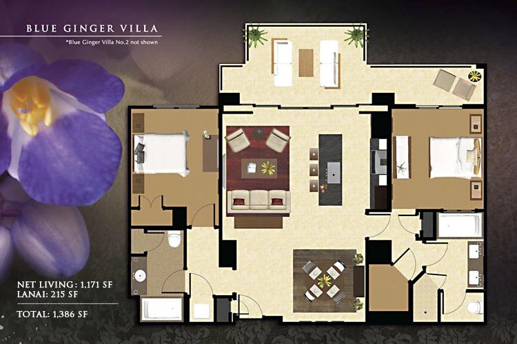 Blue_Ginger_Floor_Plan_Ko_Olina_Beach_Villas_1171_sq_ft_2bd_2ba