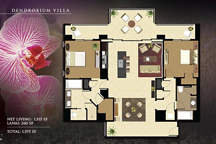 Dendrobium_Floor_Plan_Ko_Olina_Beach_Villas_1315_sq_ft_2bd_2ba