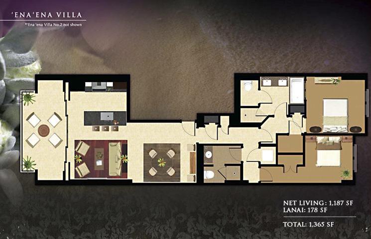 Ena Ena Floor Plan - 1187 sq ft - 2bd 2ba