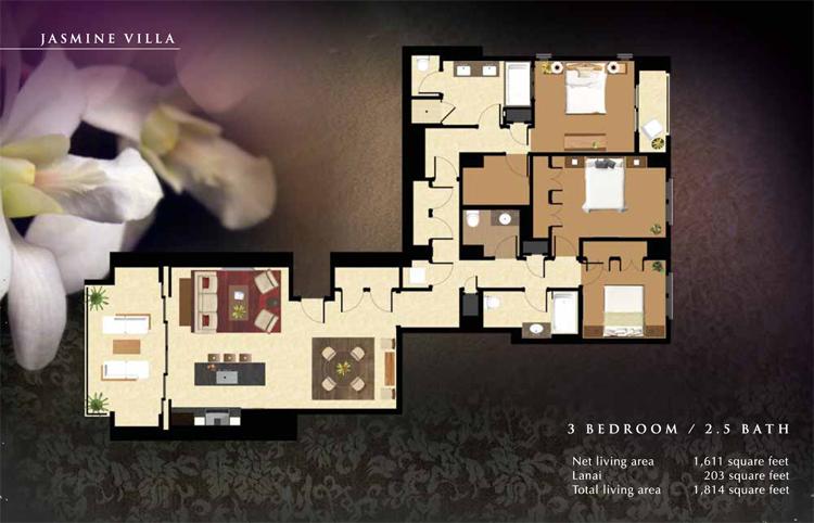Jasmine_Floor_Plan_Ko_Olina_Beach_Villas_1611_sq_ft_3bd_2.5ba