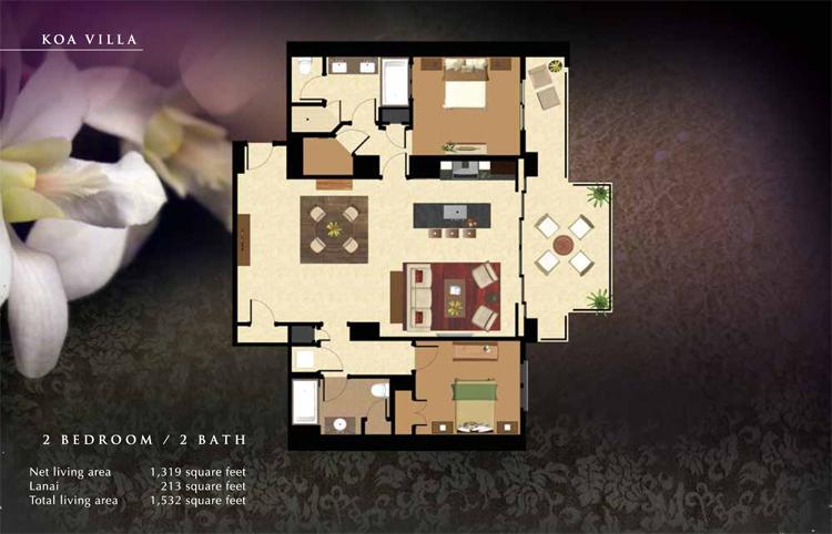 Koa_Floor_Plan_Ko_Olina_Beach_Villas_1319_sq_ft_2bd_2ba
