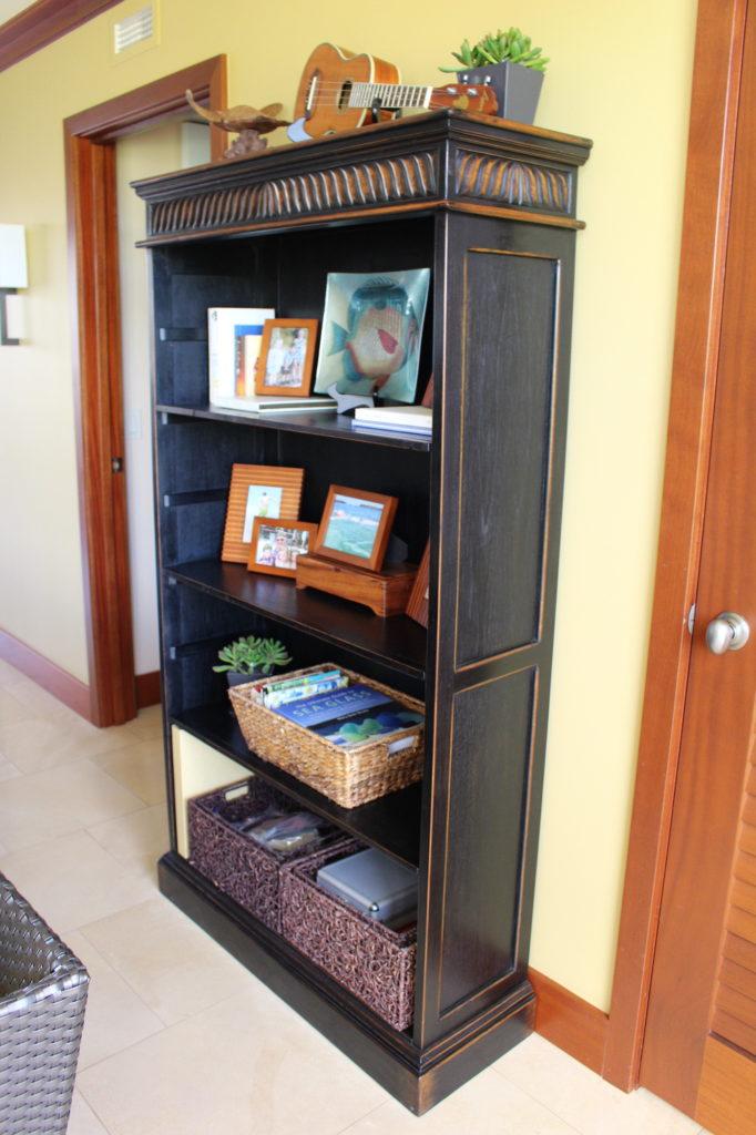 Baik Designs - Black Rubbed Book Shelf