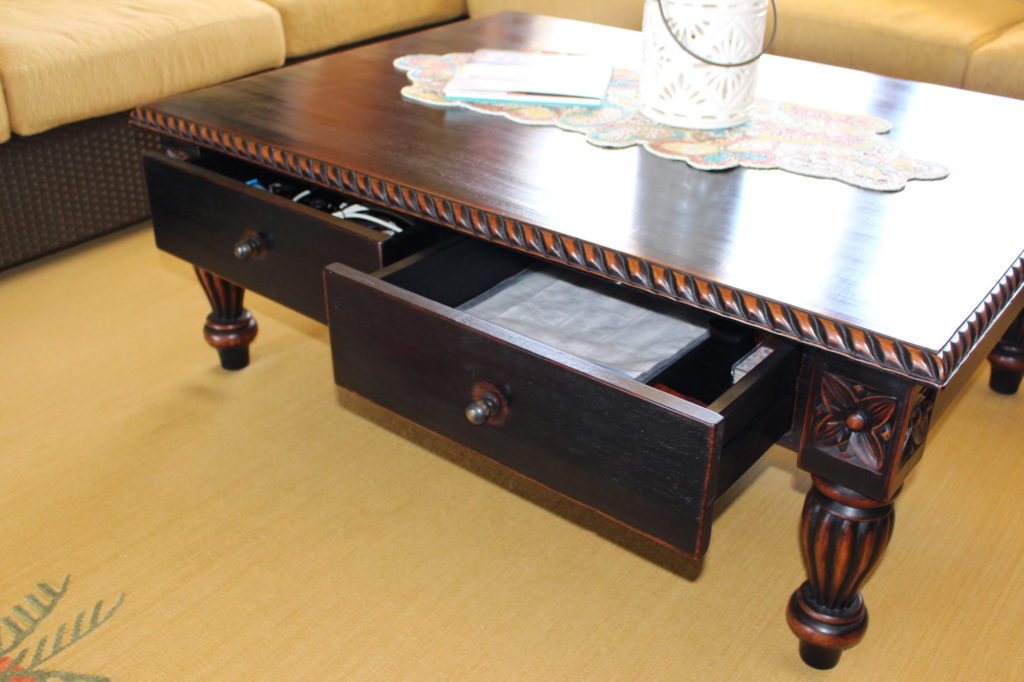 Baik Designs - Black Rubbed Coffee Table