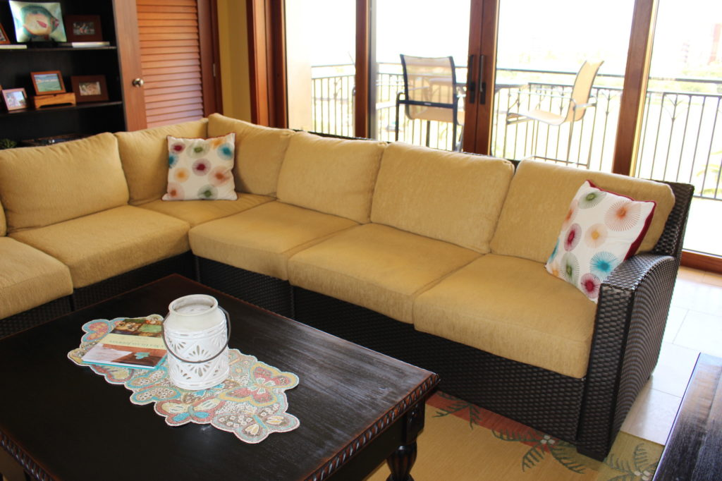 Brown Jordan Fusion 7 Seat and Ottoman Sectional w/ Sunbrella Cushions