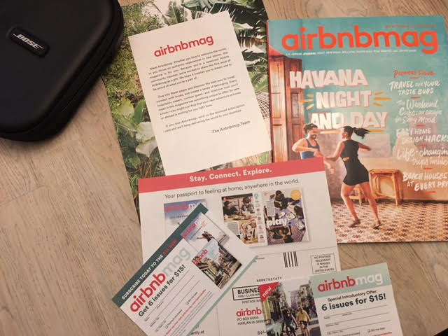 Photo of new airbnbmag and inserts